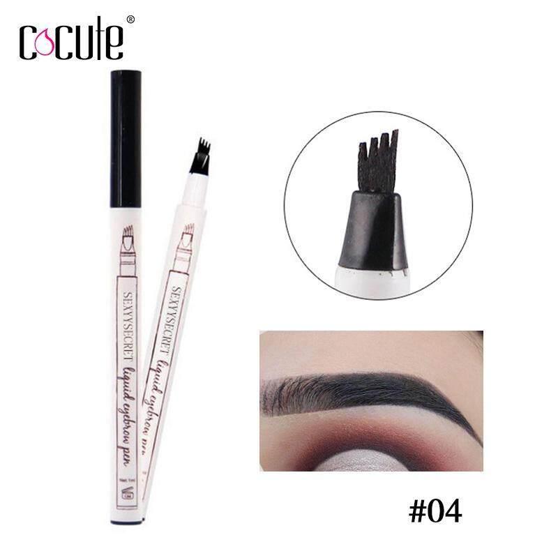 Cocute Microblading Liquid Eyebrow Tint 4 Tip Brow Tattoo Pen 5 Colors Makeup Paint Eyebrow Liner Pencil Waterproof Cosmetic Eye brow giá rẻ