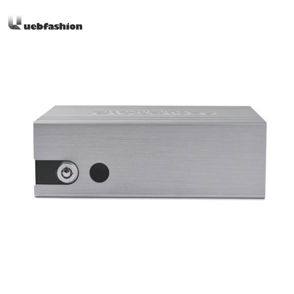 Uebfashion Portable Key Safe Car Strongbox Aluminum Alloy Cash Jewelry Storage Box