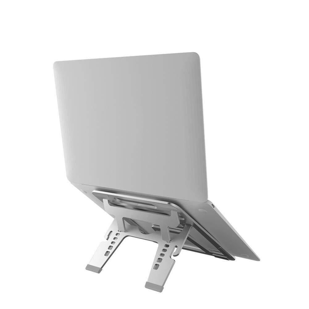 Aolvo Aluminum Alloy Notebook Laptop Stand 6 Angle Adjustment With anti-slip Mat Macbook Bracket Folding Lift Portable