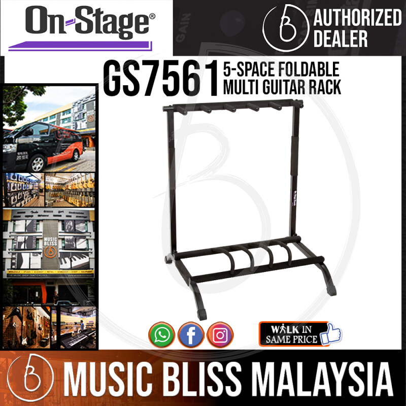 On-Stage GS7561 5-Space Foldable Multi Guitar Rack (OSS GS7561) Malaysia