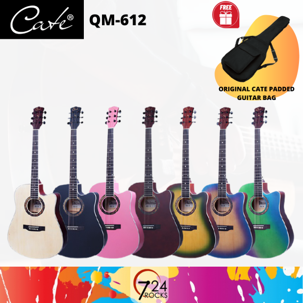 724 ROCKS Cate Carter QM-612 Beginner / Entry-level Acoustic Guitar Malaysia