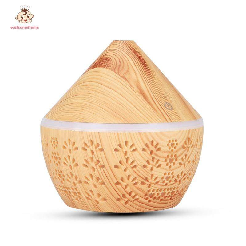Wood Grain Electric Ultrasonic Air Humidifier 300ml USB Aromatherapy Essential Oil Mist Diffuser Singapore