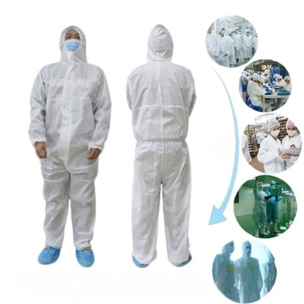 Non Woven PP Disposable Coverall Factory Disinfectant Protective Coat
