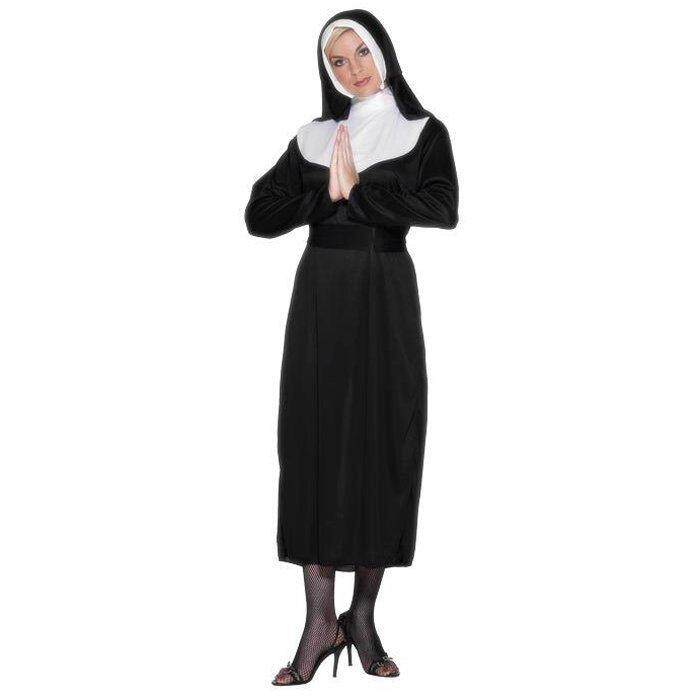 The Nun Costume Womens Ladies Sister Act Holy Religious Fancy Dress