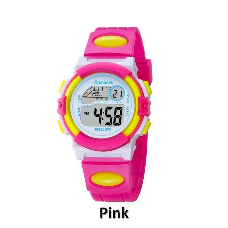 Coolboss ยี่ห้อกีฬาอิเล็กทรอนิกส์นาฬิกาสำหรับเด็กนักเรียนนาฬิกาข้อมือเด็กเด็กชายนาฬิกาเด็กนาฬิกาดิจิตอล Led สำหรับ Boy Girl By Youngyoungstar Store.