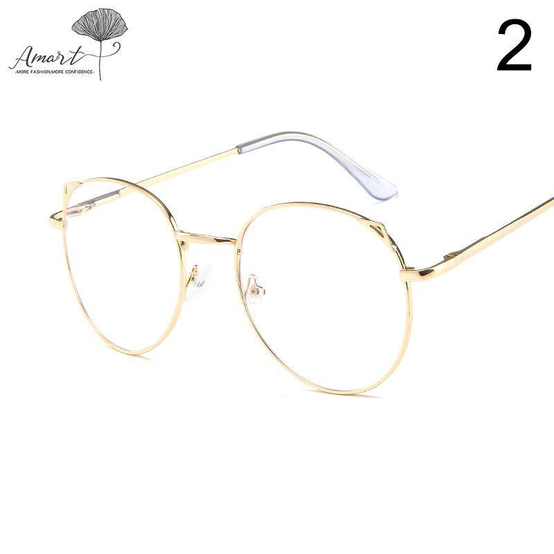 Amart Fashion Student Anti Blue Ray Glasses Metal Frame Lightweight Clear Lens By Amart.