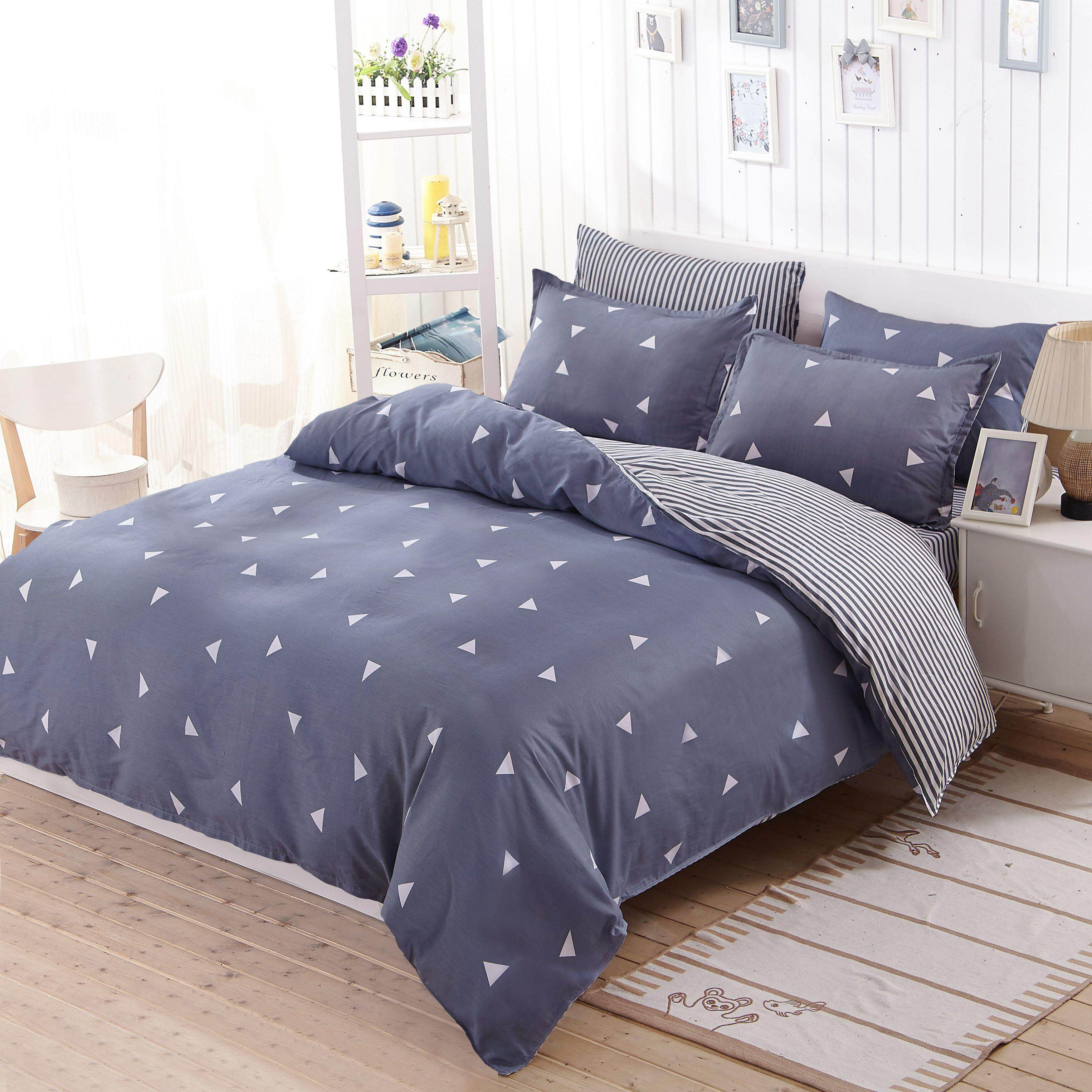 Bedding New Print Good Quality Luxury Sheet Pillowcase And Duvet Cover Sets Bedlinen Twin Double Queen King Size Bedding Sets
