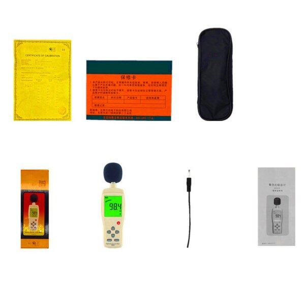 ELEC Sound level meters Decibel meter logger Noise Audio detector Digital Diagnostic-tool Automotive 30~130db AR824