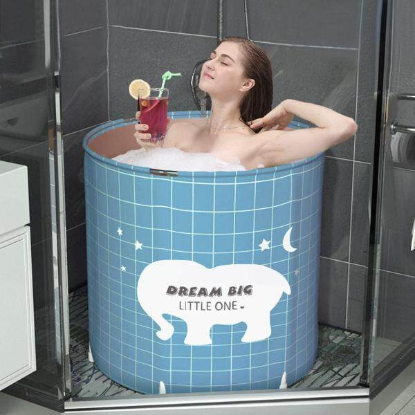 Bathroom Bath Barrel Foldable Bath Barrel Household Inflatable Foldable Bathtub Outdoor Swimming Pool For Children Adults