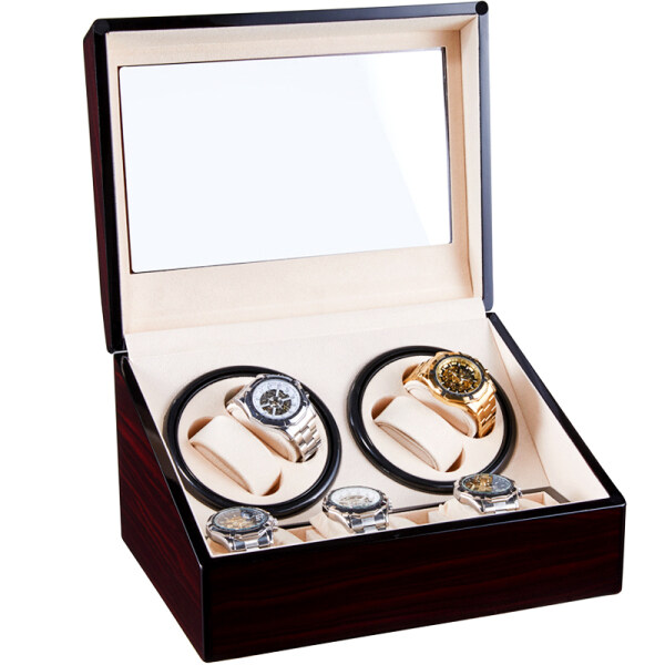 Mechanical Watch Winding Storage Box Winder Shake Jewelry Collection Holder Wooden 4+6 Automatic Display Double Head Silent Motor Malaysia