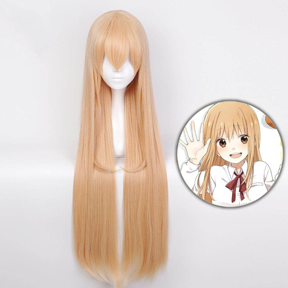 High Quality Himouto! Umaru-Chan Doma Umaru Cosplay Wig Synthetic Hair Light Orange Long Straight Halloween Costume Play Wigs+wig Cap Ajile By Bright Life.