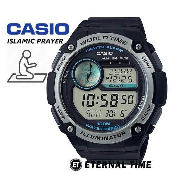 (2 YEARS WARRANTY) CASIO ORIGINAL CPA-100-1AV ISLAMIC PRAYER WATCH (CPA-100) Malaysia