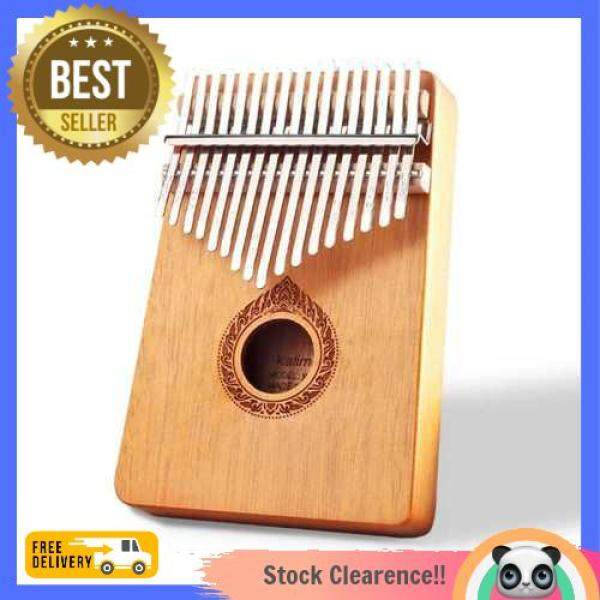 [Promo] Classic 17-Key Wooden Acoustic Thumb Piano Kalimba Mbira Exquisite Workmanship for Beginners Students (Orange) Malaysia