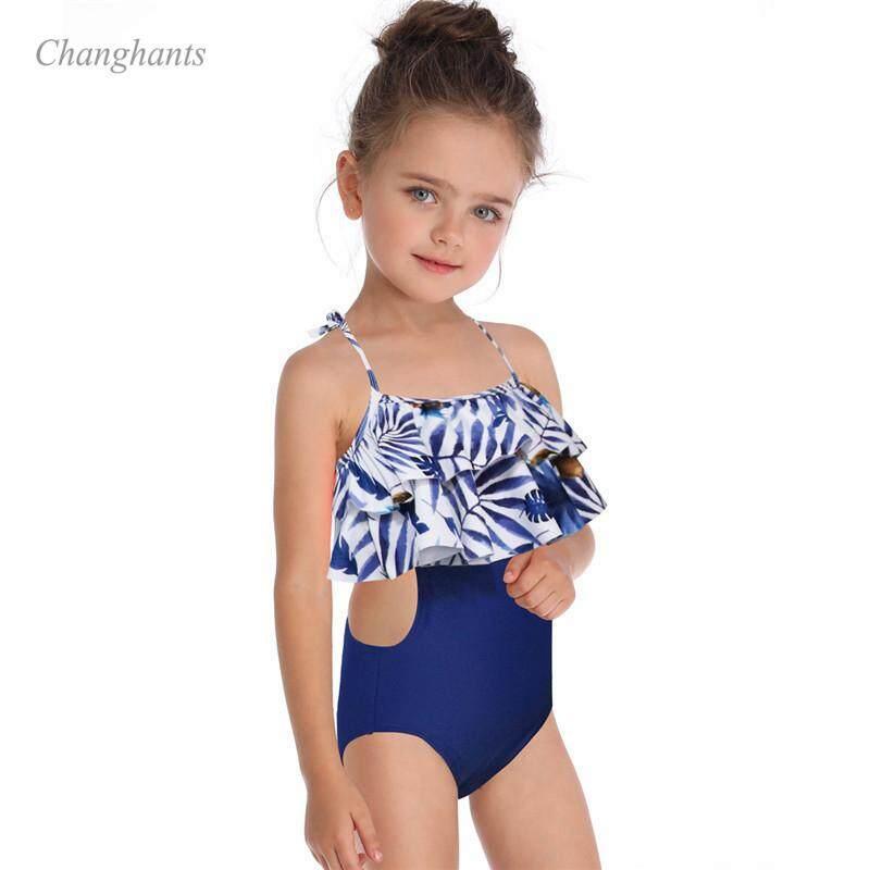 bfe9de53652f 2019 New Model Kid Girl Bikinis set two piece Swimwear Swimsuit Girls 2-10 Y