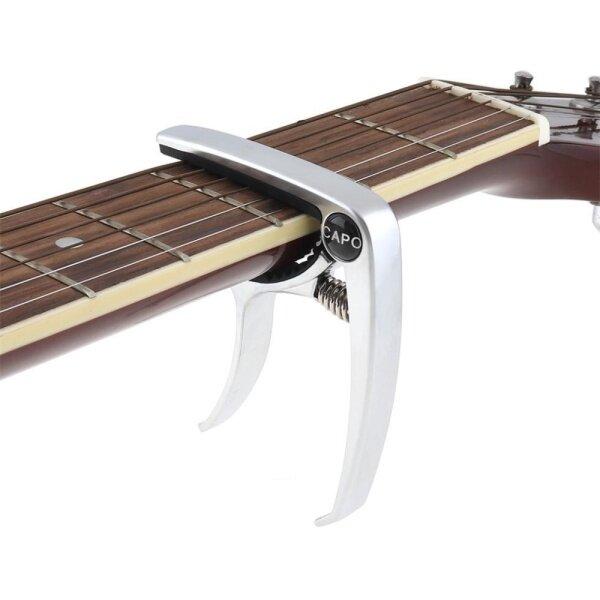Guitar Capo Zinc Alloy Ballad Capo Folk Ballad Guilloche Guitar Ukulele Accessories Malaysia
