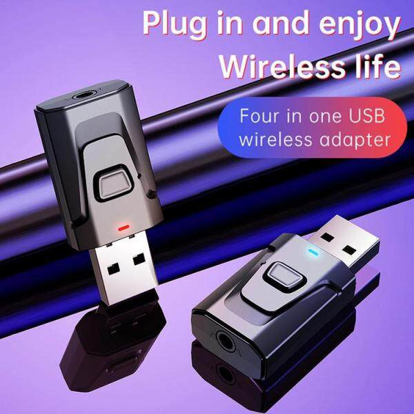 5.0 Bluetooth Adapter USB Wireless Bluetooth Transmitter Receiver Music Audio for PC Car Hands-free 3.5mm AUX Adaptado