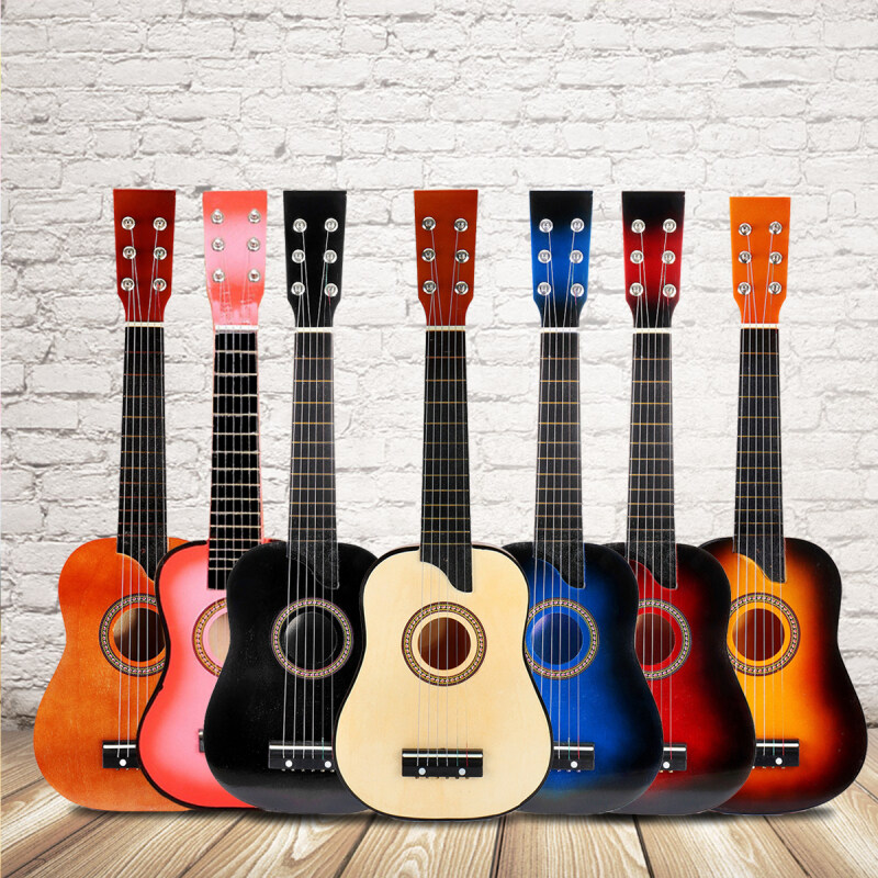 25 Inch 6 String Acoustic Guitar Beginner Practice Musical Instrument Stringed Guitar for Beginners Students Malaysia