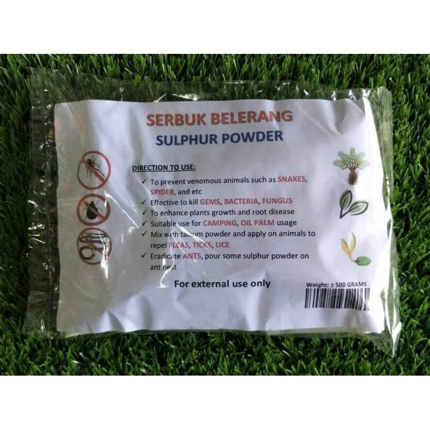 500G Sulfur Powder Belerang Sulphur Snake Repellent