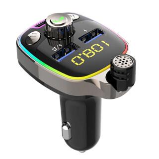 Sạc Xe Hơi Gucanou BC08, Bộ Phát FM 5.0 Tương Thích Bluetooth Thông Minh Gọi Rảnh Tay Không Dây Cho Xe Tải thumbnail