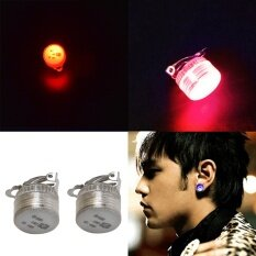 Xi yang Jing LED Earrings Light Up Ear Studs Dance Party Accessories Blue Red Flash
