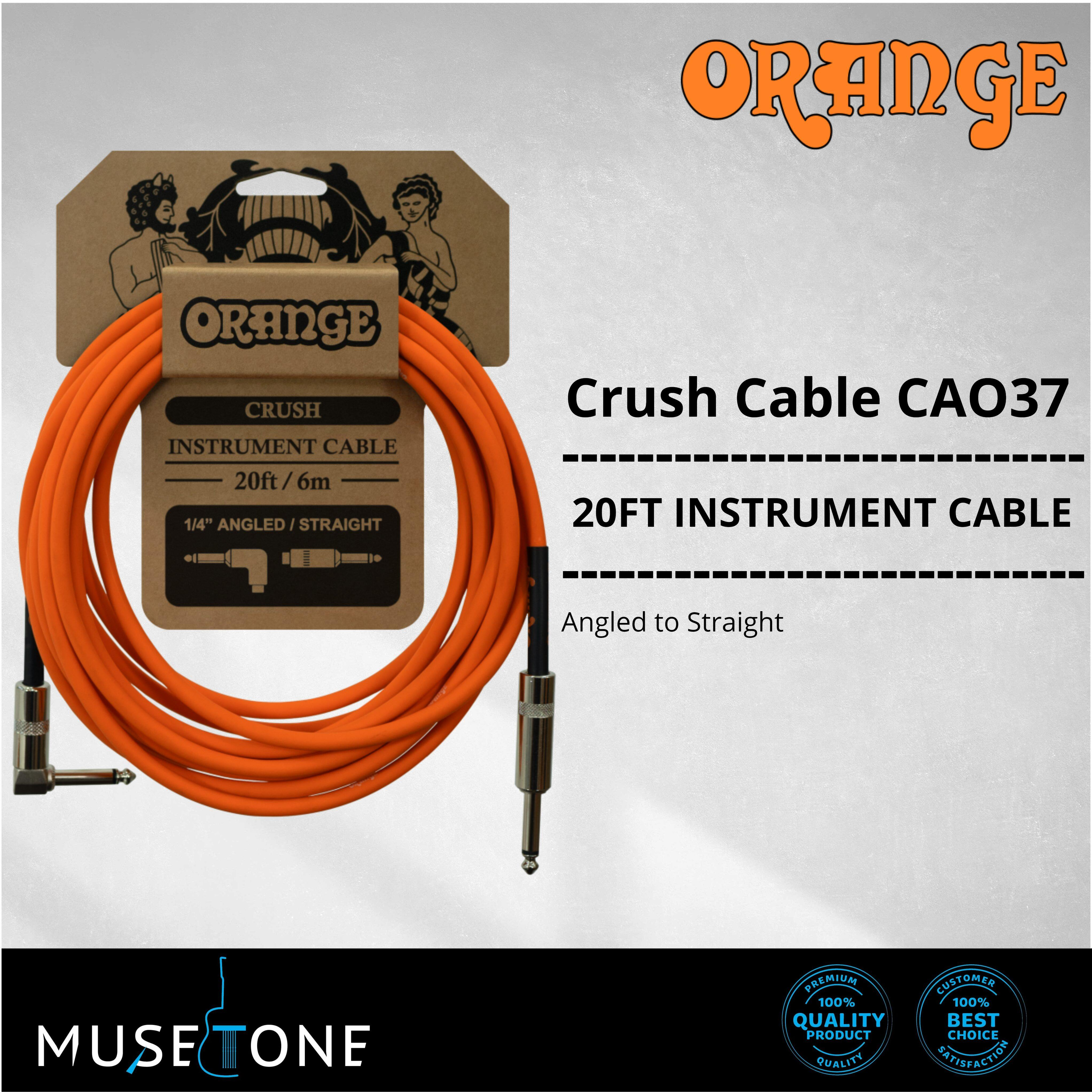 Straight to Straight Orange Crush 20ft Instrument Cable
