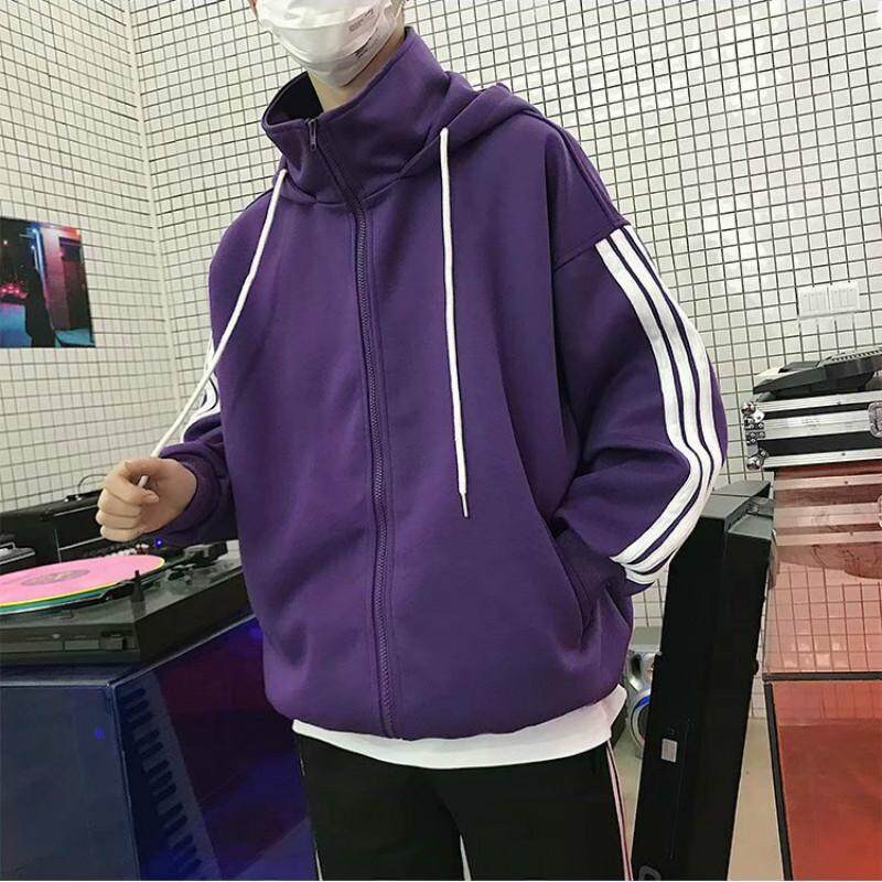 2a44224fd Autumn Winter Men's Guard Clothes Korean Edition Fashion Hat-shirt Zipper  Coat Couple Boys Youth