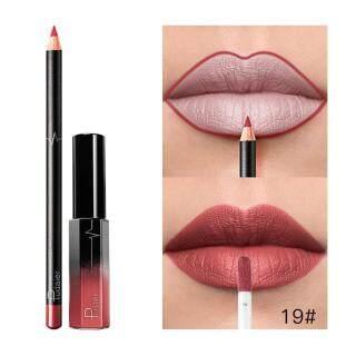 Lipstik Matte Cair Tahan Lama, Set Kosmetik Lip Liner Lip Gloss Cair Tahan Air thumbnail