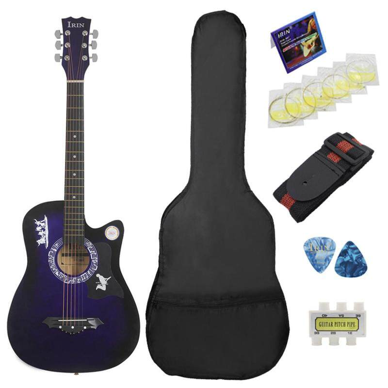 IRIN 38 inch 6 String Wood Acoustic Guitar Beginner Gifts with Bag & Kits Malaysia
