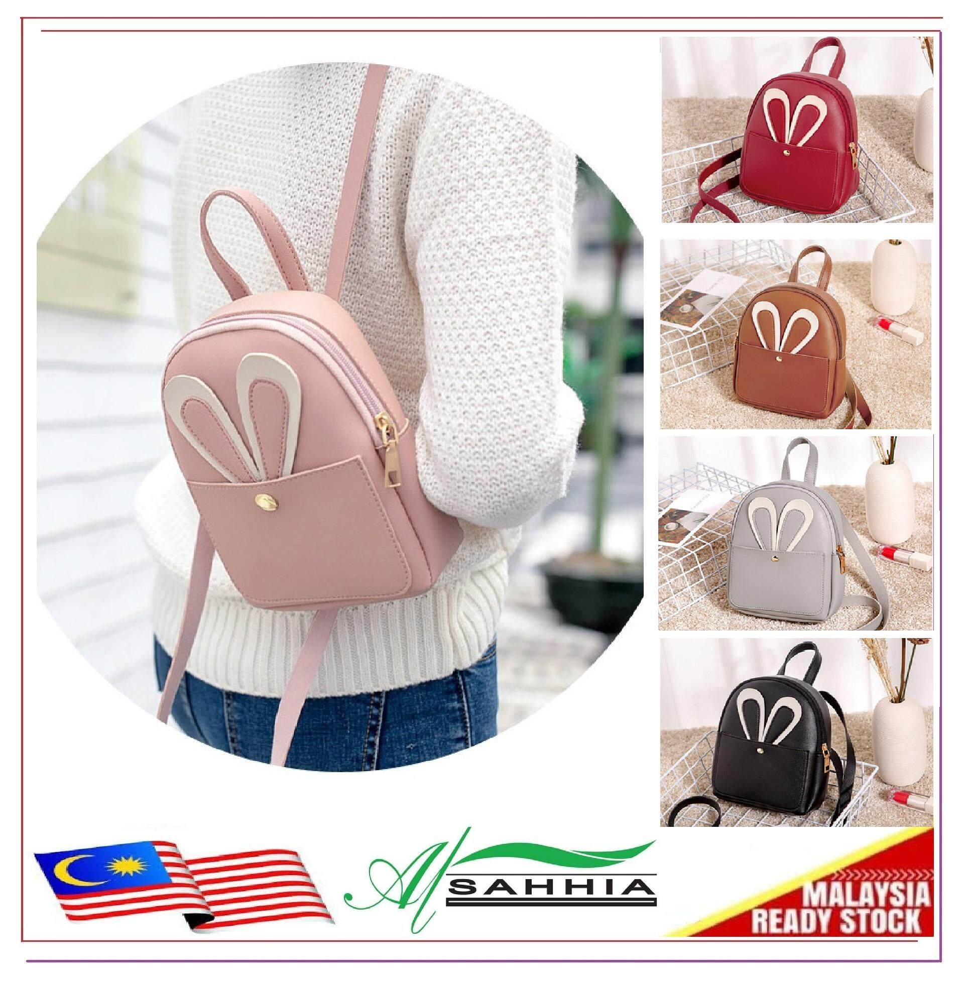 b42bc41c4a12 Al Sahhia Ready Stock Rabbit Ear Mini Backpack Beg PU Bag Casual Bag