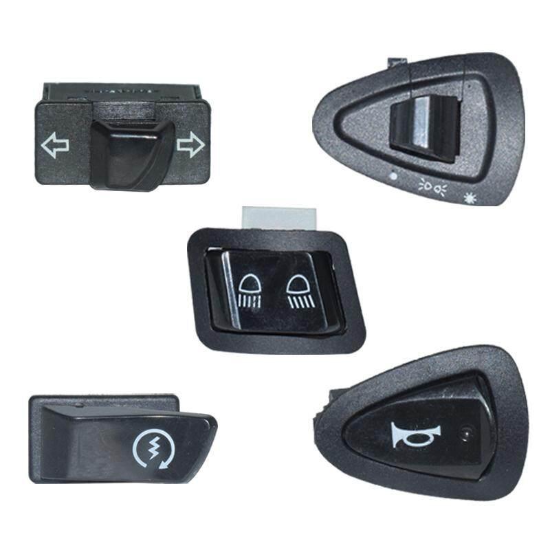 5 X Motorcycle Switches Button Healight Fog Light Horn Turn Signal Blinker High Low Beam Electric Start Kill Buttons For Honda.