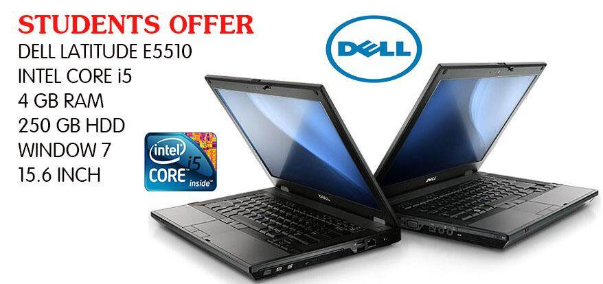 STUDENT OFFER DELL E5510 INTEL CORE I5 4GB RAM 250 GB HDD 15.6 INCH Malaysia