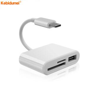 Kebidumei Đầu Đọc Thẻ USB Type C 3 Trong 1, Bộ Chuyển Đổi Đầu Đọc Thẻ Nhớ Thông Minh TF Cáp USB OTG Truyền Dữ Liệu Cho Điện Thoại Di Động thumbnail