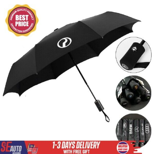 ✱◐❐  Car Perodua Proton Honda Toyota Umbrella One Button Windproof Vented Car Umbrella Payung Kereta
