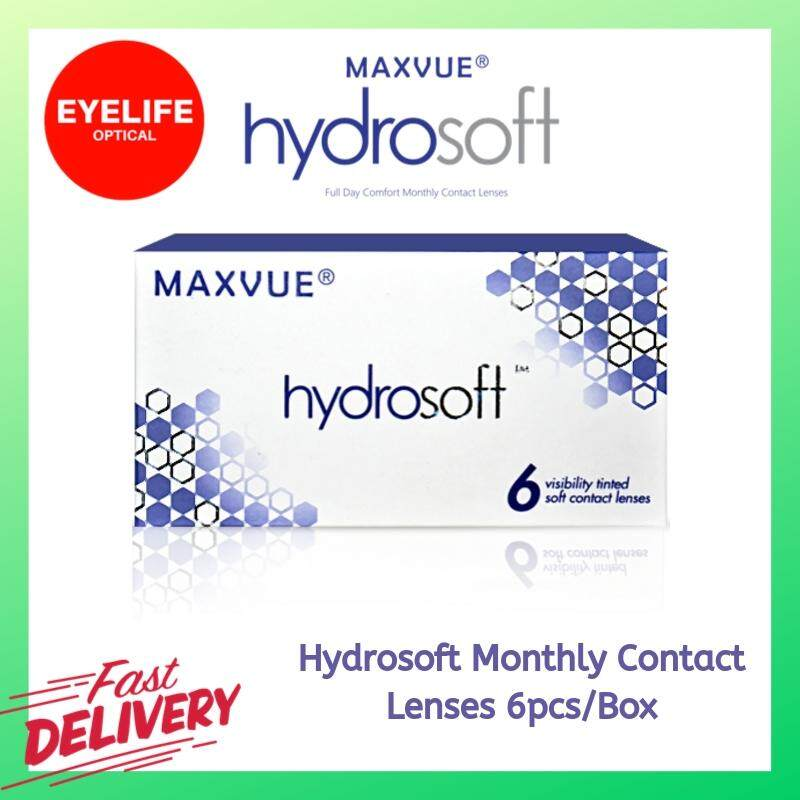 Maxvue Hydrosoft Monthly Disposable Contact Lenses 6pcs/Box