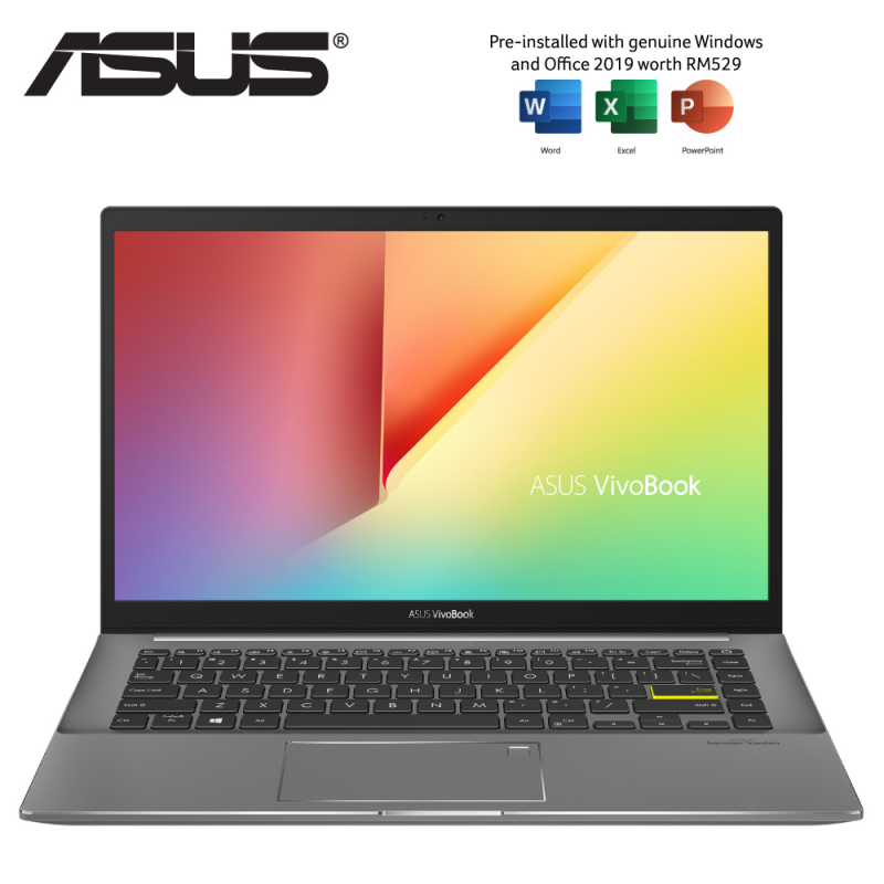Asus VivoBook S14 S433E-AAM433TS 14 FHD Laptop Indie Black ( I7-1165G7, 8GB, 512GB SSD, Intel, W10, HS ) Malaysia