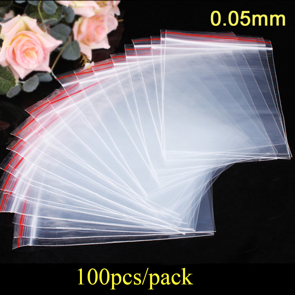 100, 4x6cm All sizes All quantities Reclosable zip Bags