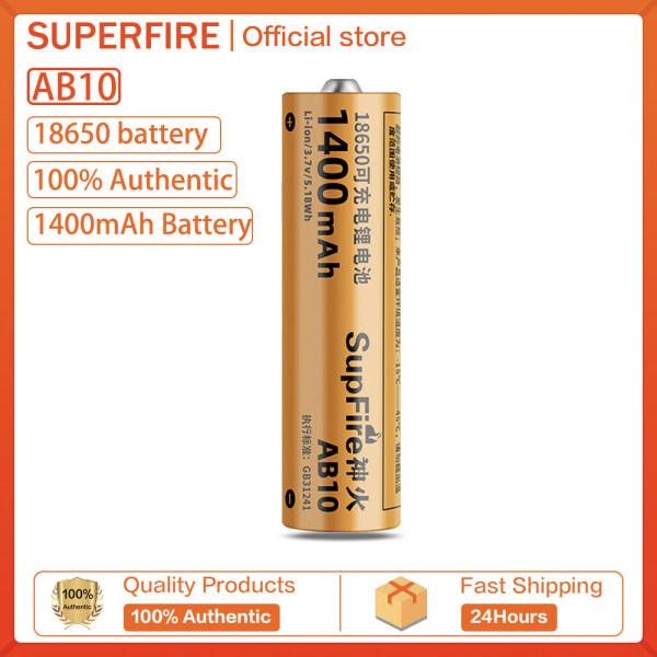 Bảng giá SupFire AB10 Mạnh Mẽ Ánh Sáng Đèn Pin 18650 Li-Ion Pin Sạc 1400MAh 3.7V/4.2V