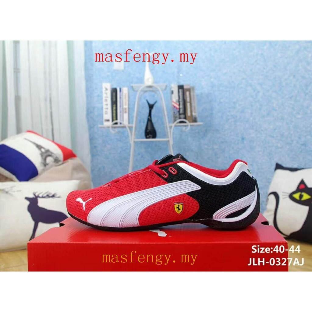 SLK ★ Rubber patch Original Puma red white shoes Running Mans FERRARI Racing shoes
