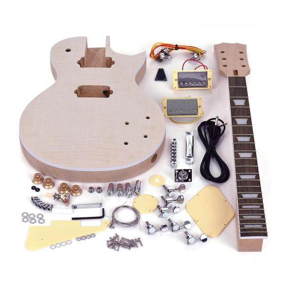 【Ready】Muslady LP Style Unfinished Electric Guitar DIY Kit Set Mahogany Body & Neck Rose Wood Fingerboard Malaysia
