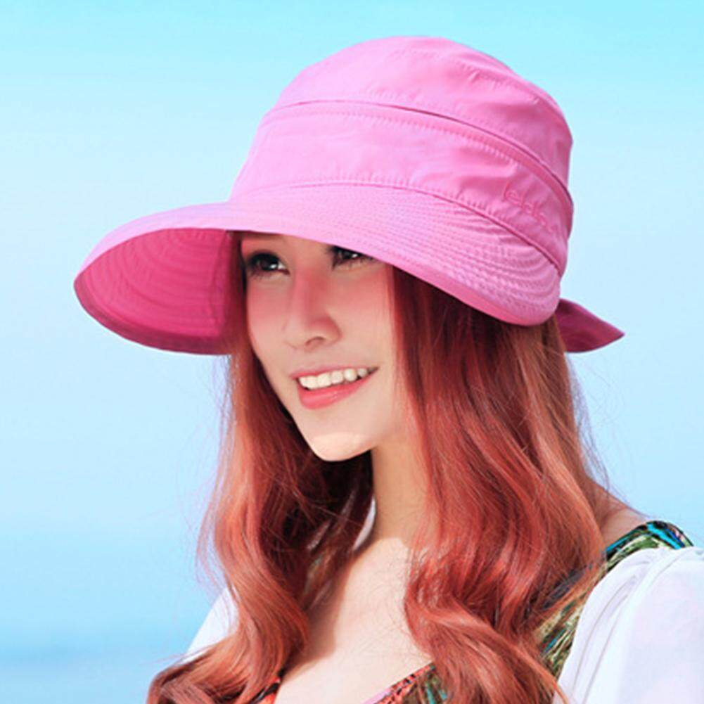 8624f807 ElecyFor Women 2 in 1 Wide Brim Sun Hat Ladies Summer UV Protection Cap  Outdoor Sports
