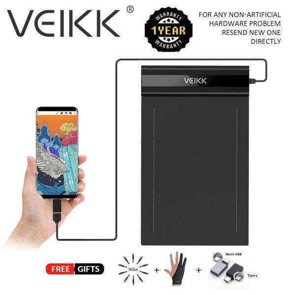 (VEIKK Official store) VEIKK S640V2  6 x 4 inch Ultra-Thin Easy Carrying Pen Tablet Graphics Drawing Tablet Support Androidphone Digital Drawing Writing Pad with 8192 Levels Pressure Sensitivity Battery-Free Pen