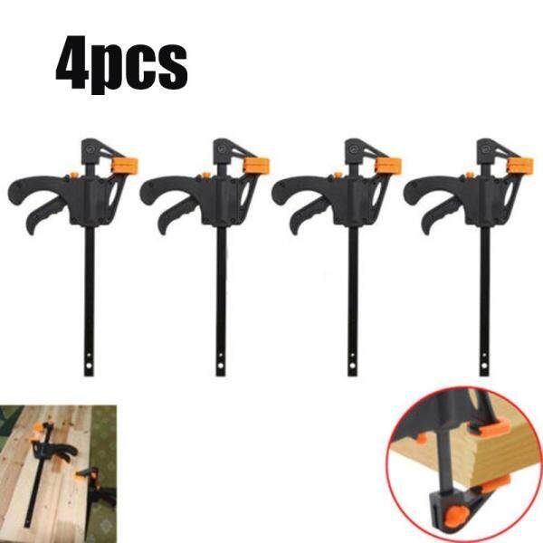 Hand F Clamp Gadget Release Squeeze 195mm 4 Inch Wood Working Grip Ratchet Plastic F Clamp