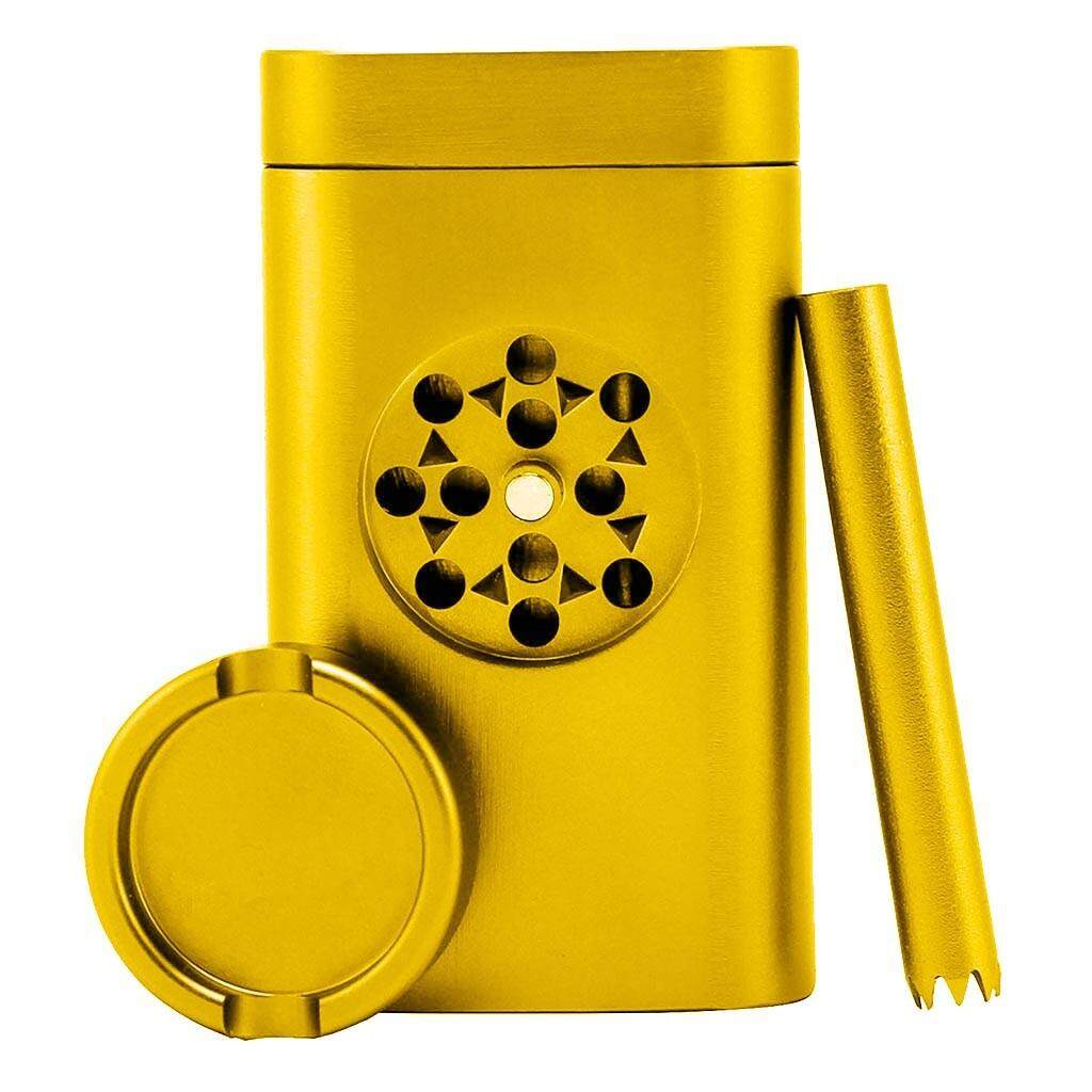3 in 1 Stash Holder Mini Grinder and Aluminum Tube with Magnetic Lid for Smell Proof Blue