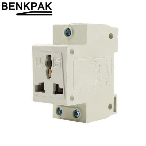 10-16A 250V Single One 2 Pole 2 Pin Plug 35mm DIN Rail Mount AC Power ac30 Modular Socket