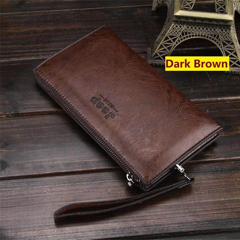 JEEP BULUO Famous Brand Leather Day Clutches For Men Wallet Bags Handbag dac68746c06e