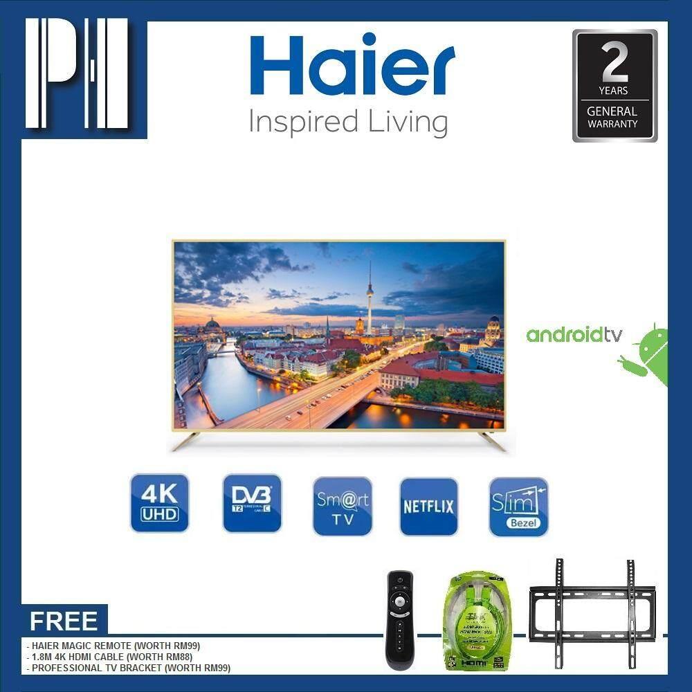 HAIER LE65U6600U 65 UHD 4K ANDROID SMART LED TV + MAGIC REMOTE + TV BRACKET  + 1 8M 4K HDMI CABLE Malaysia