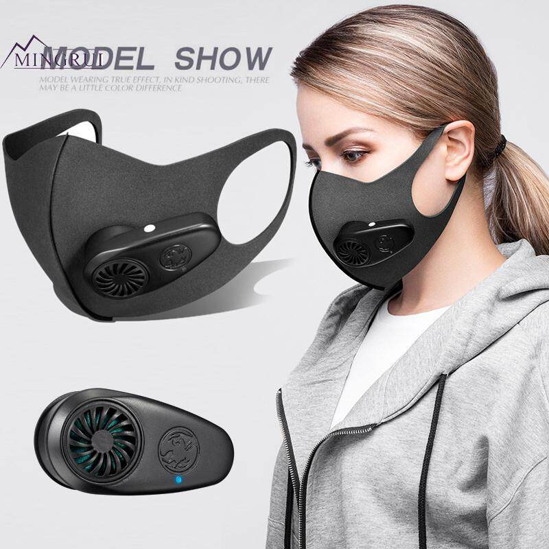 Mingrui Black N95 600mA PM2.5 Air Purifying Mask Anti Dust Mask Electric Face Mask Smart Economic Protection Daily Life Body