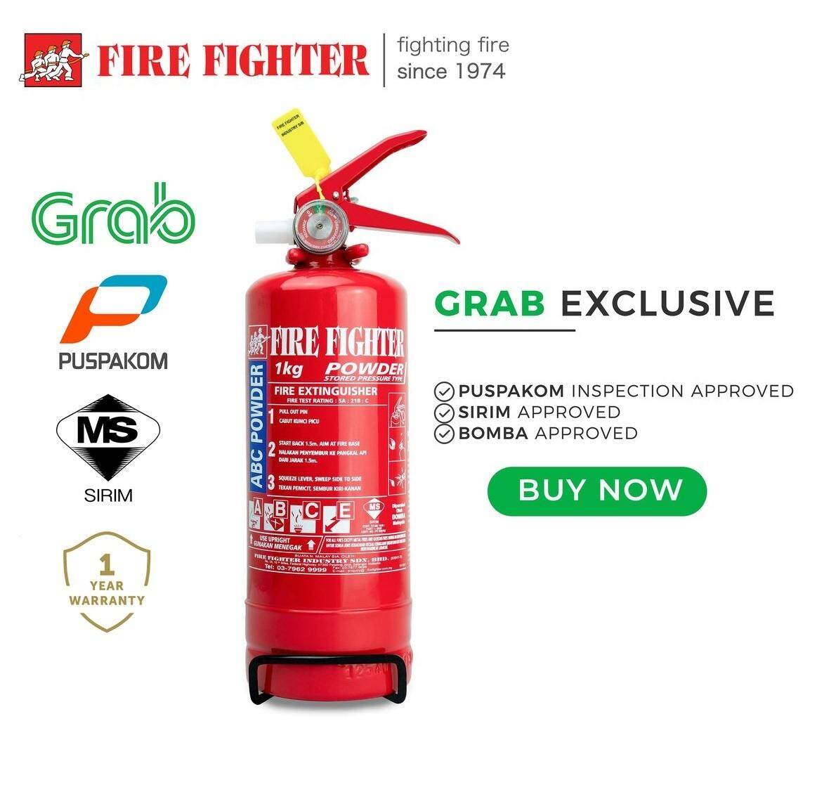 Fire Fighter 1KG ABC Dry Powder Fire Extinguisher