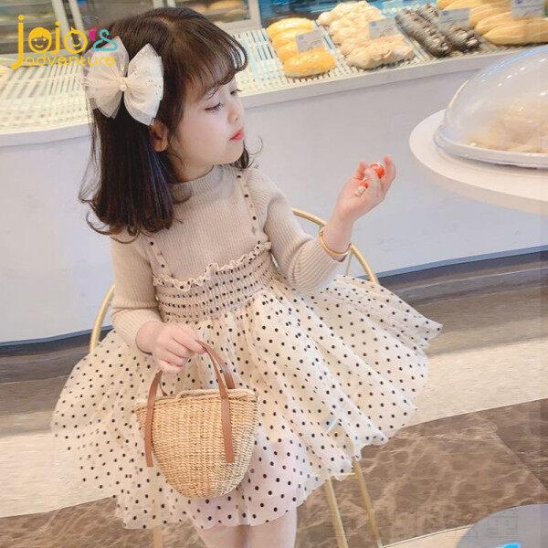 Giá bán 【 Jojojojos ADVENTURE】 Váy Bé Gái Gạc Dệt Kim Giả Hai Mảnh Phiên Bản Hàn Quốc Cho Trẻ Em Điểm Sóng Mùa Xuân Và Mùa Thu 2020 Váy Công Chúa Màu Đen/Màu Be 0-4 Tuổi