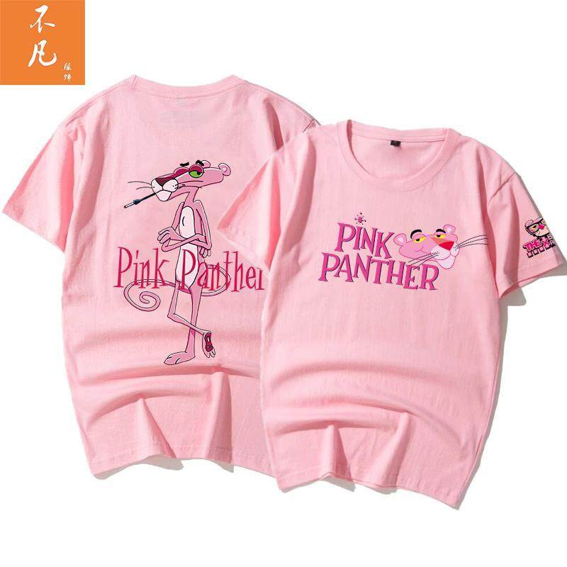 a0d93503 Product details of Online Celebrity the Pink Panther T-shirt Schoolgirl  Loose Ultra-Fire CEC Short Sleeve women 2019 New Style Pure Cotton White  INS Fashion ...